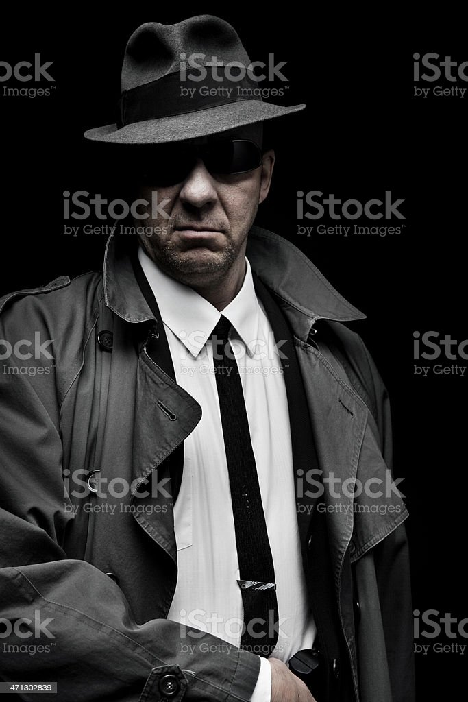 1940's Private Eye royalty-free stock photo