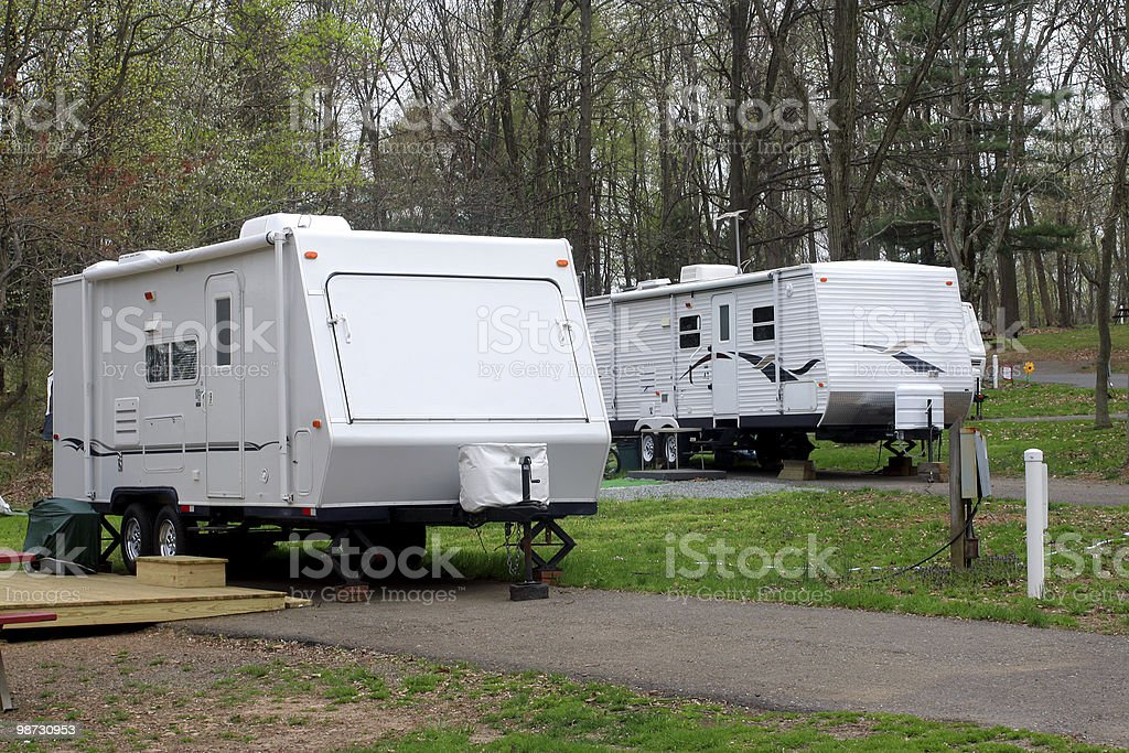 RV's Ready for the Weekend royalty free stockfoto