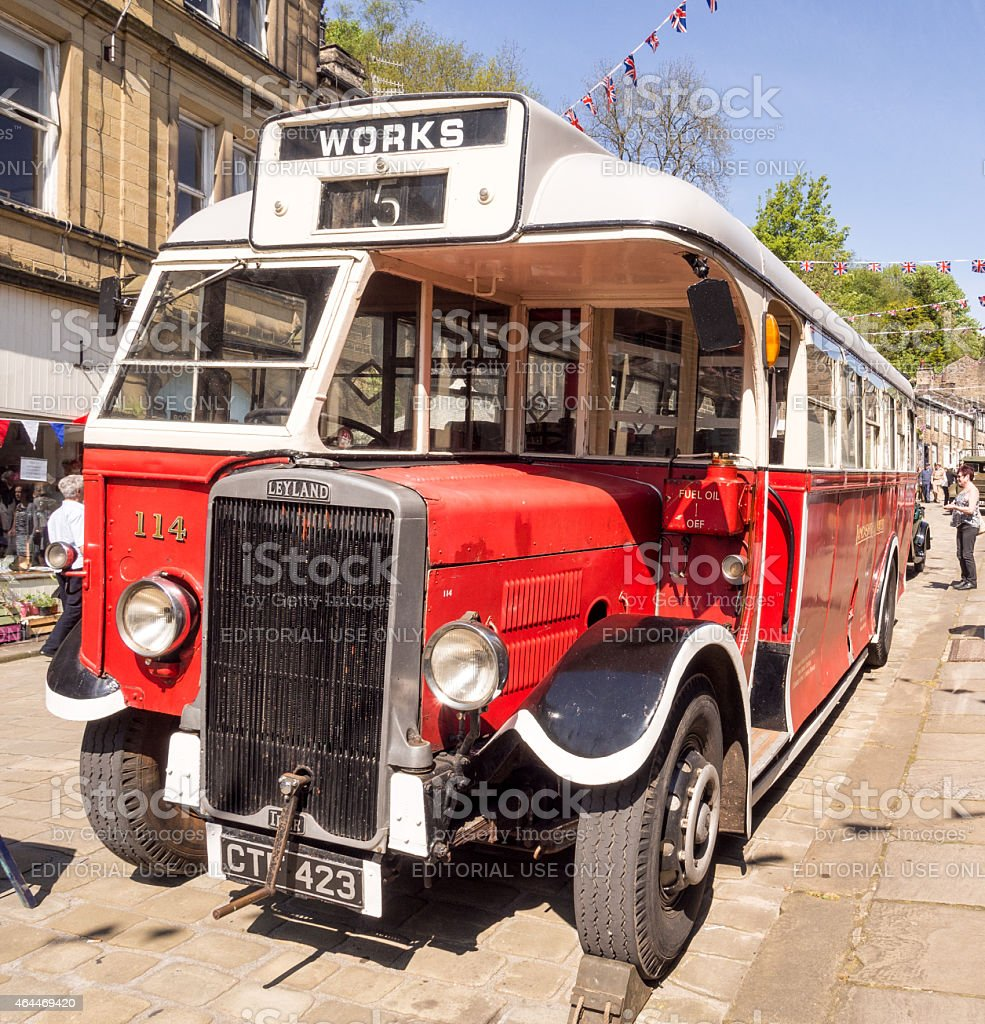 1940's Re-enactment weekend at Haworth, Yorkshire, UK stock photo
