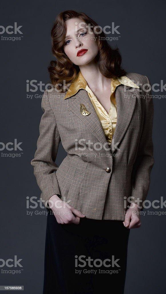 1940's retro fashion stock photo