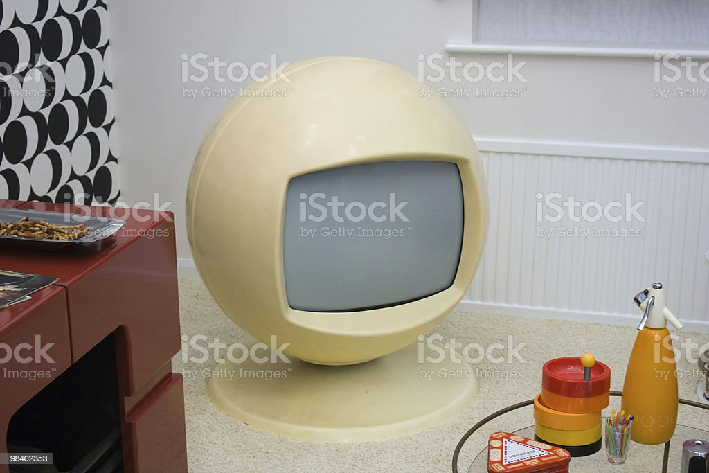 1970's Retro TV Set royalty-free stock photo