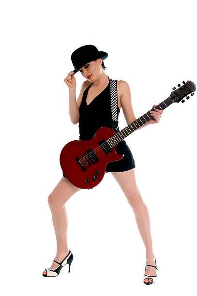 80 rocker-chic - rock n roll kleider stock-fotos und bilder