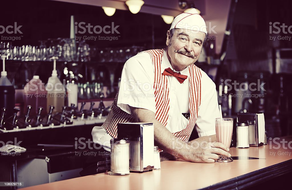1950's Soda Shop stock photo