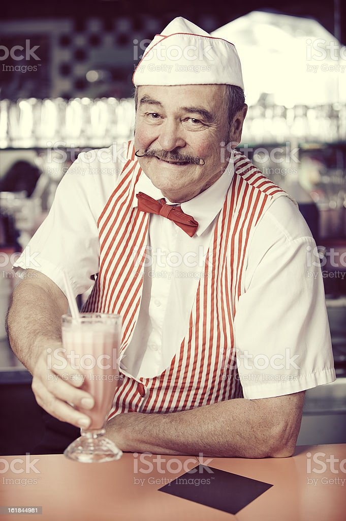 1950's Soda Shop stock photo