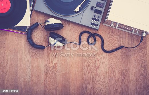 istock 1980's stereo set 498698984