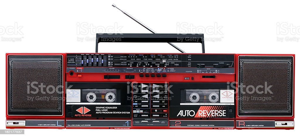 1980's Stereo System stock photo