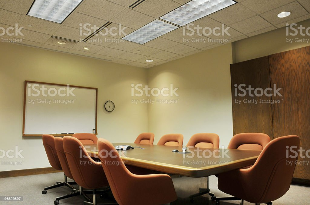 1970's Style Conference Room royalty-free stock photo
