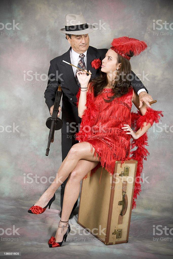 1920's style couple royalty-free stock photo