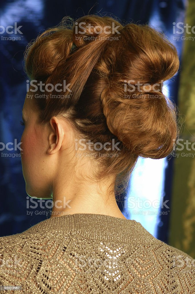 40's style up do royalty-free stock photo