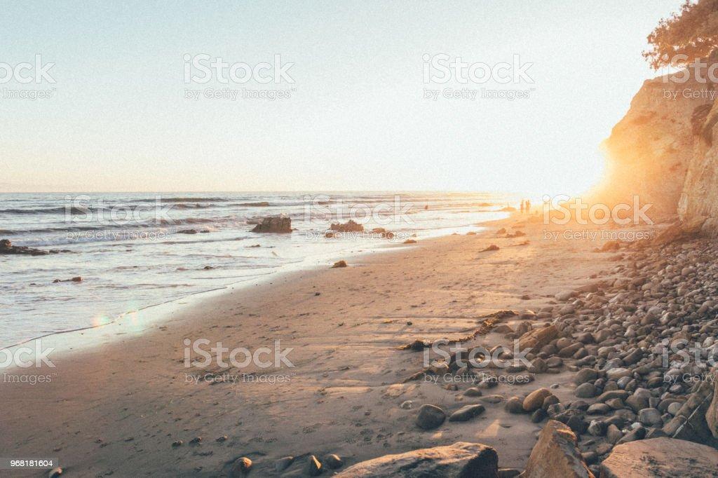 80's Sunset stock photo