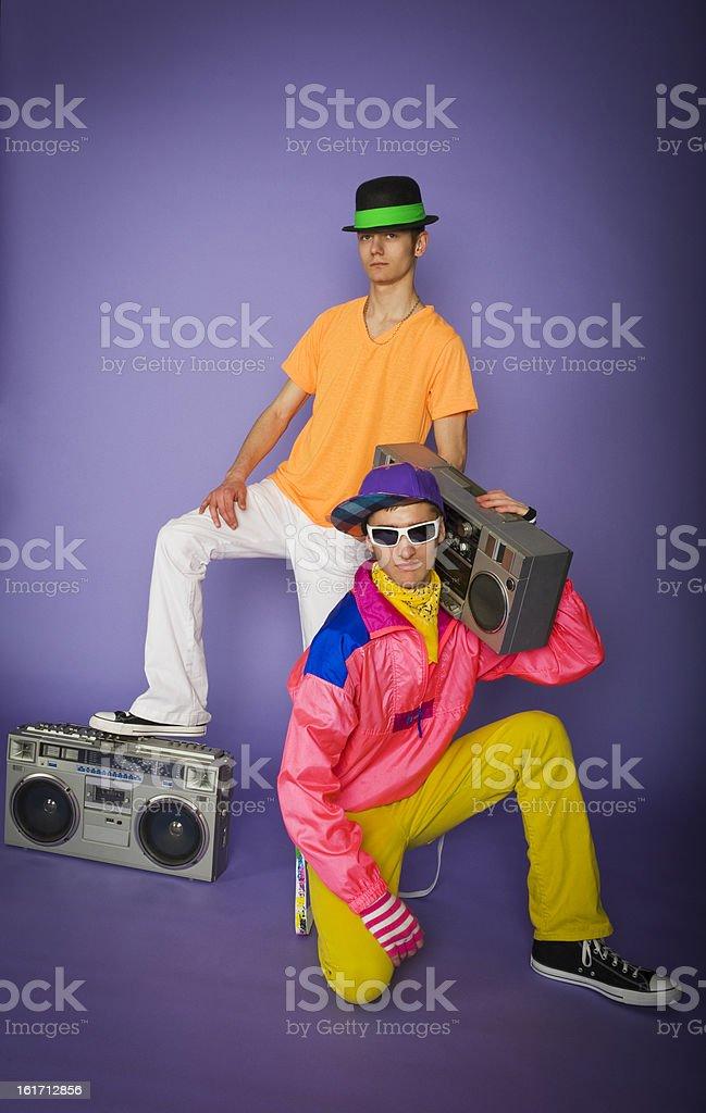 1980's teen boys royalty-free stock photo
