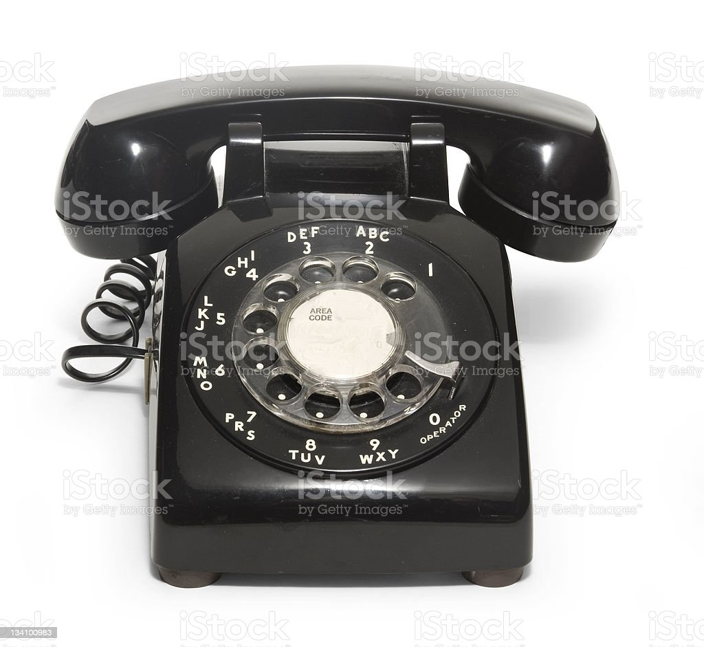 50's Telephone stock photo