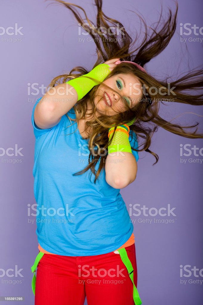 1980's Wild Hair stock photo