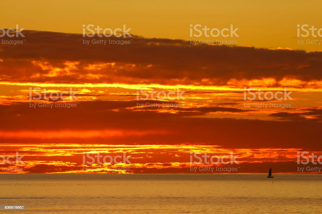S_Dillon_San_Clemente_Fire_Sky stock photo
