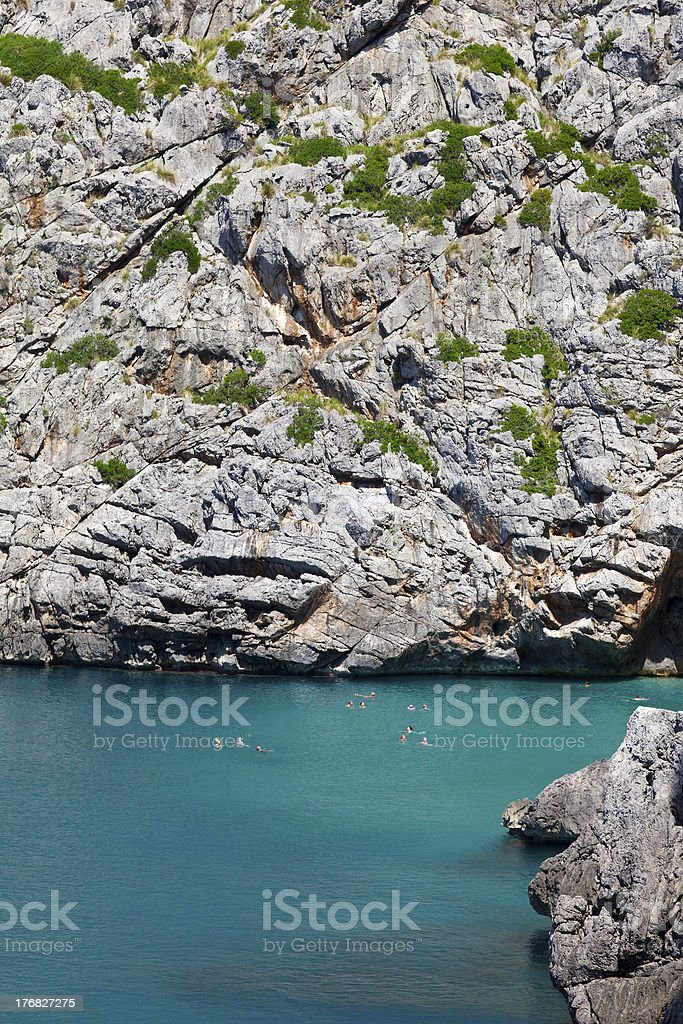Sa Calobra Beach stock photo