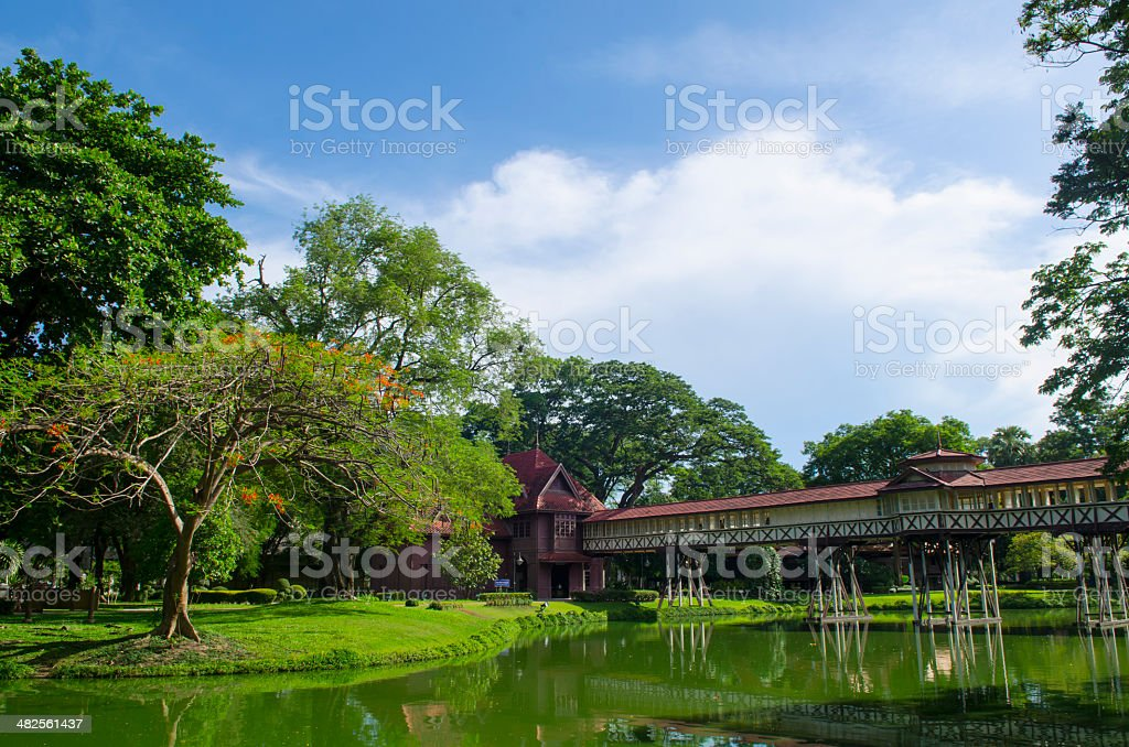 Sa Nam Chand palace, Nakhon pathom, Thailand royalty-free stock photo