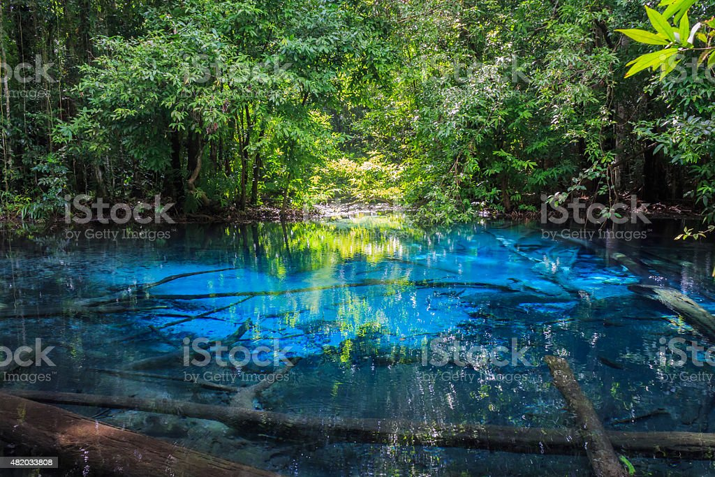 Sa Nam Phut is beautiful spring pool stock photo