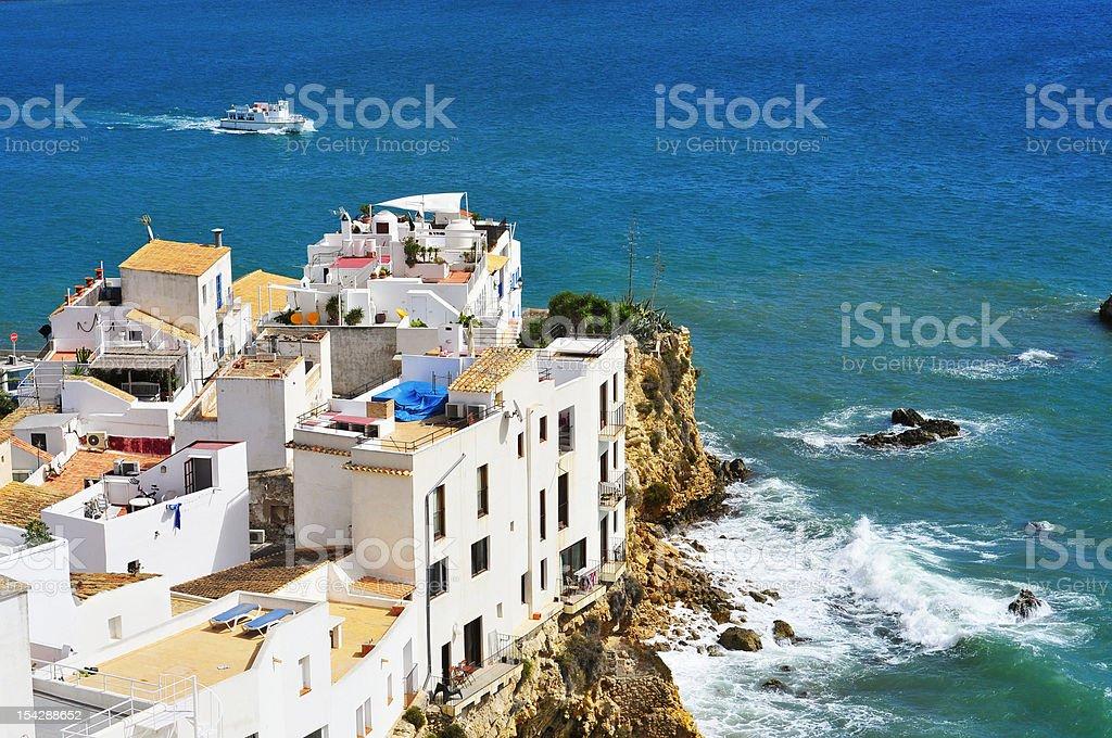 Sa Penya District in Ibiza Town, Balearic Islands, Spain stock photo