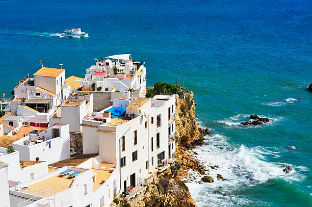 Sa Penya District in Ibiza Town, Balearic Islands, Spain stock photo