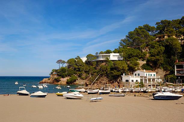 Sa Riera Beach Begur, Girona, Costa Brava, Cataluña, España - foto de stock