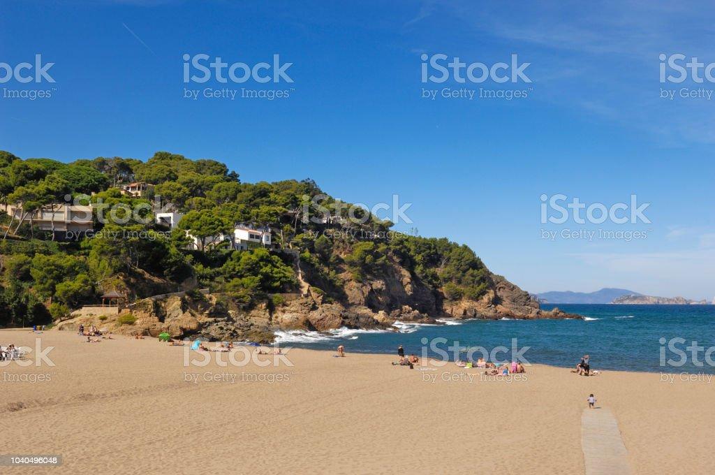 Playa de Sa Riera de Begur, Costa Brava, Girona provincia, Cataluña, España - foto de stock