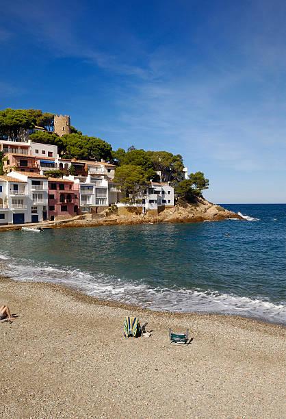 Sa atún Beach en Begur, Girona, Costa Brava, Cataluña, España - foto de stock
