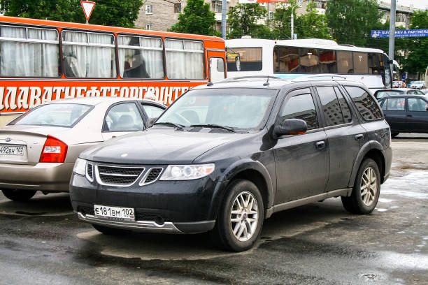 Saab 9-7X Ufa, Russia - May 27, 2010: Motor car Saab 9-7X in the city street. saab stock pictures, royalty-free photos & images