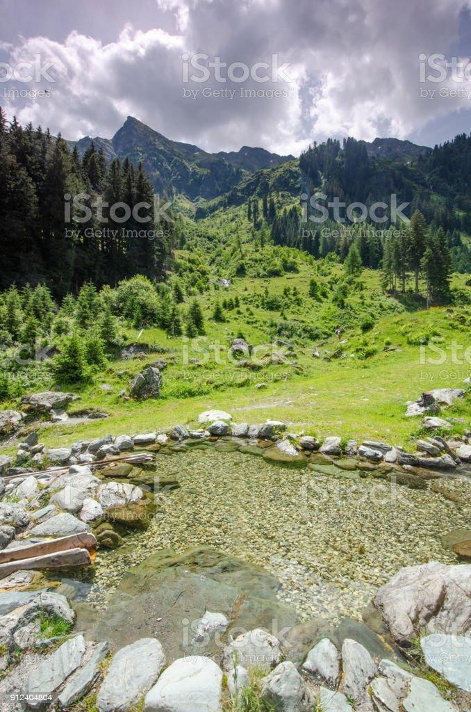 Saalbach-Hinterglemm, Austria stock photo