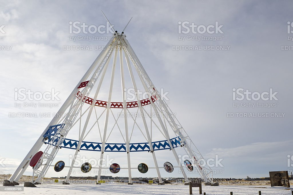 Saamis Tepee - Medicine Hat, Alberta stock photo