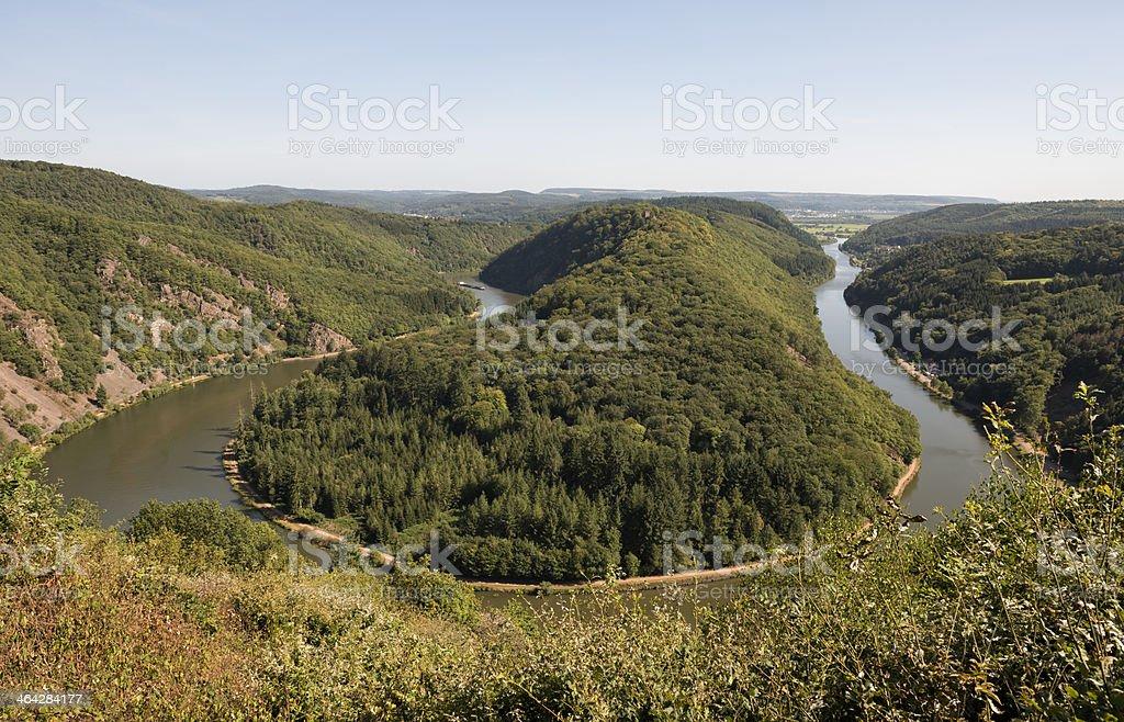 Saar River, Saarschleife, Saarland, Germany stock photo