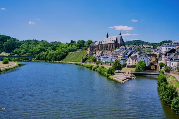 Saarburg in Germany stock photo