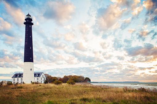 Saaremaa island, Estonia. Sorve lighthouse on the Baltic sea coast