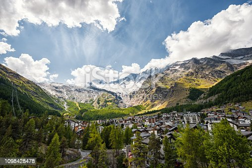 Saas Fee is located in Switzerland. It is known as winter tourist resort. But also in summertime you can explore the beauty in nature by hiking. The mountains go up over 4000 meters over sea.