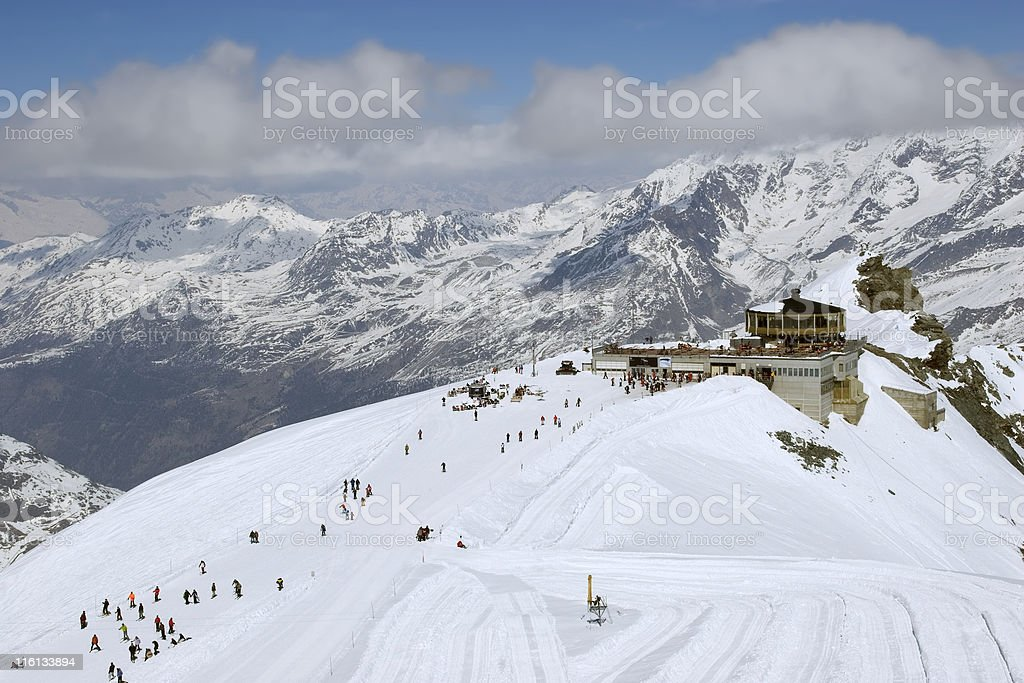 Saas Fee. royalty-free stock photo