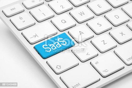 Saas written keyboard.