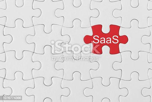 SaaS on jigsaw puzzle.