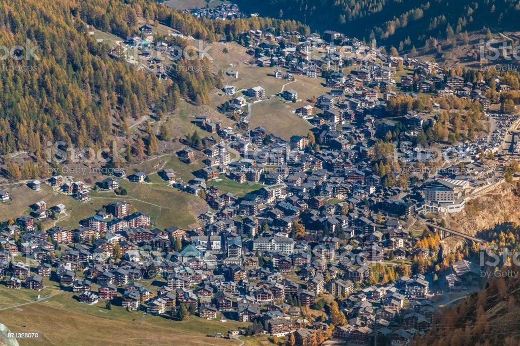 Saas-Fee, Saastal,, Visp, Valais, Switzerland. stock photo