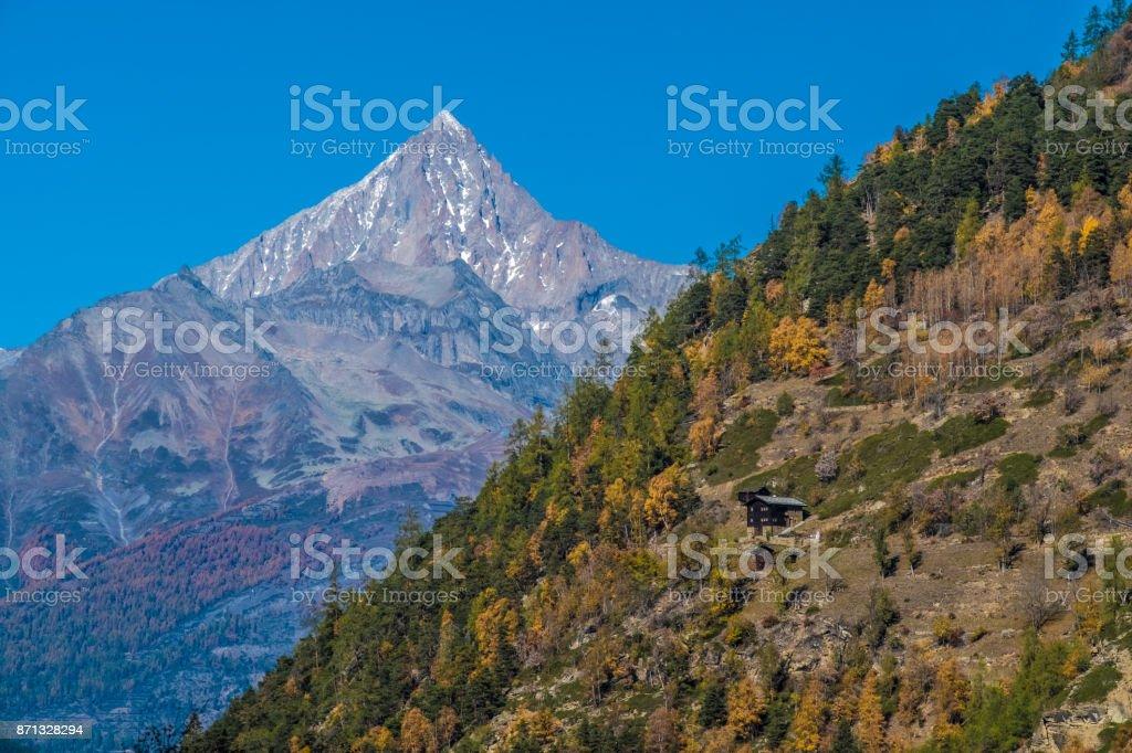 Saastal,, Visp, Valais, Switzerland. stock photo