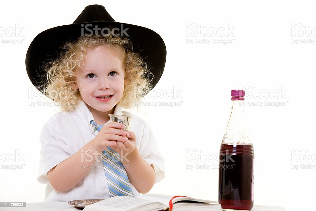 Sabbath ritual stock photo