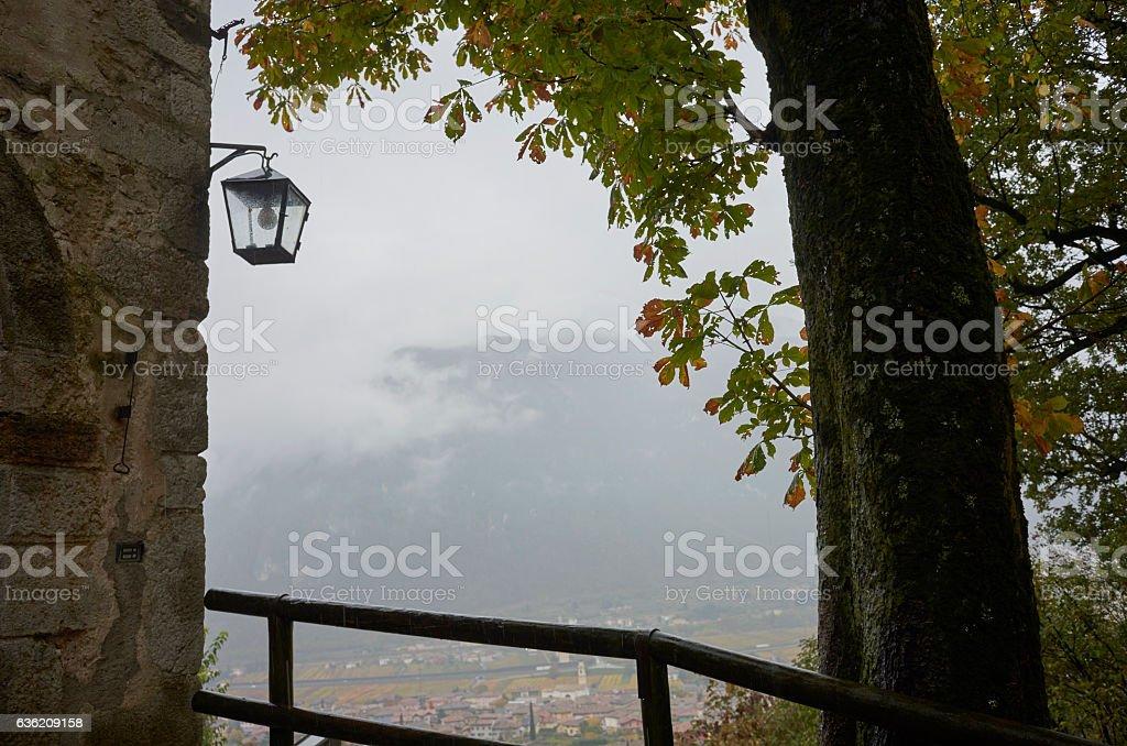 Sabbionara town in North Italy stock photo