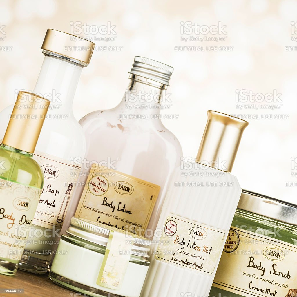 Sabon Skin Care Products stock photo