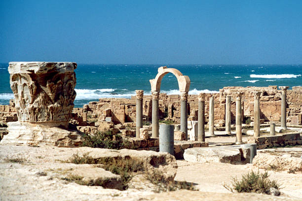 Sabratha; Libya: temple of Serapis stock photo