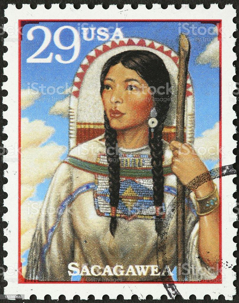 Sacagawea royalty-free stock photo