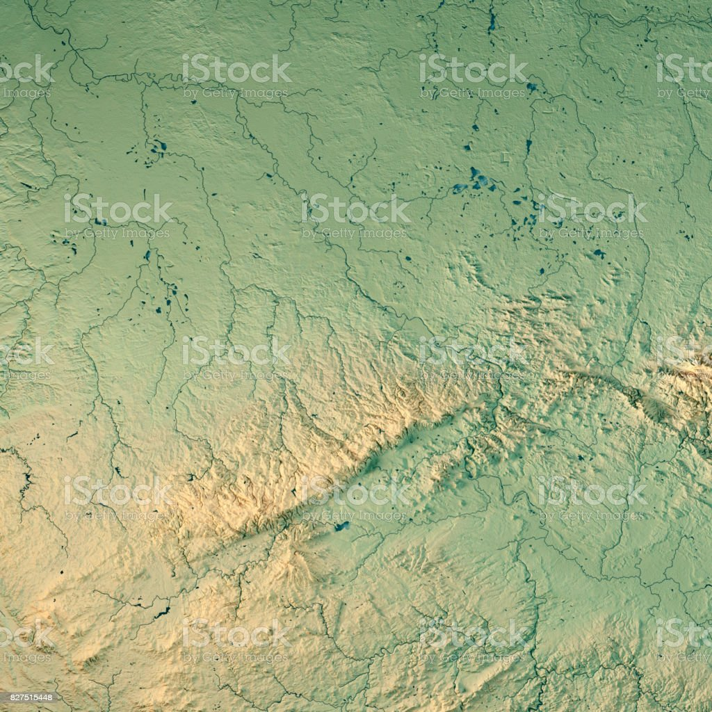 sachsen bundesland germany 3d render topographic map royalty free stock photo