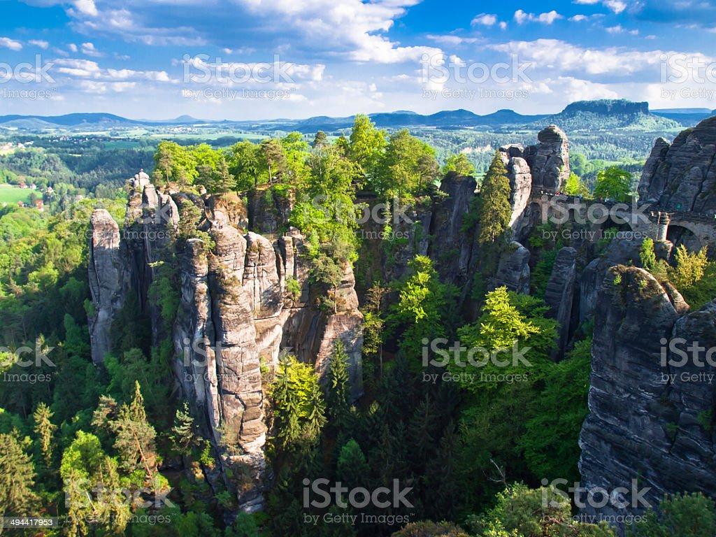 Sachsische Schweiz stock photo