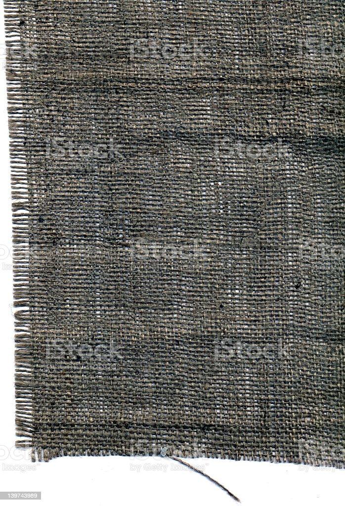 Sack Cloth Edge Left royalty-free stock photo