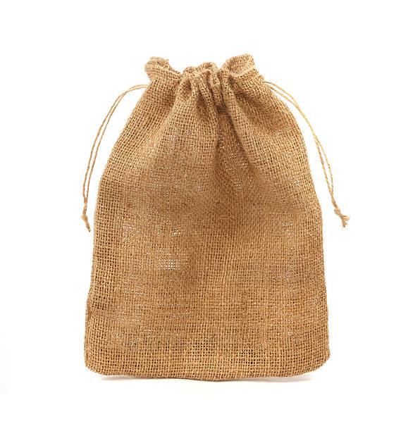 sack isolated on white background stock photo