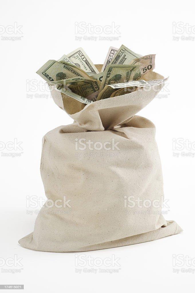 sack of cash royalty-free stock photo