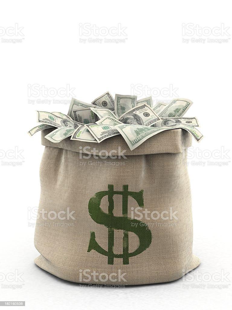 Sack of Dollars royalty-free stock photo