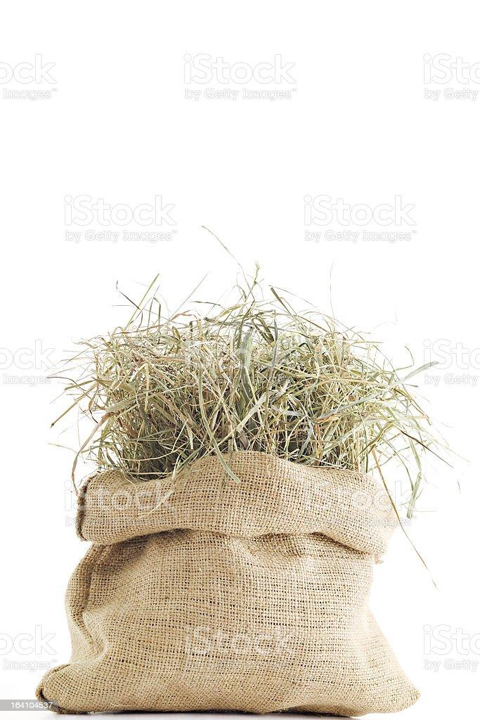 Sack of Hay stock photo